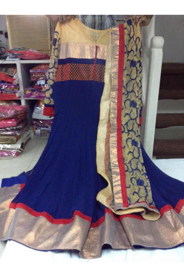 Bollywood Replica - Party Wear Blue Anarkali Suit   - 1166