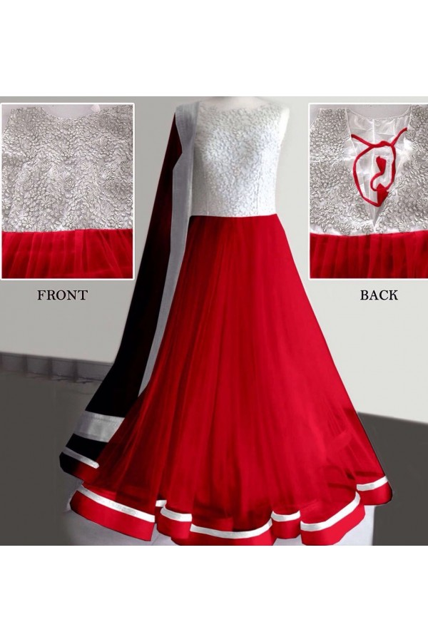Bollywood Replica - Party Wear Red Anarkali Suit   - 1167-A