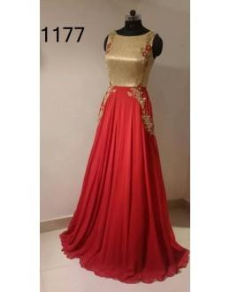 Bollywood Replica - Fancy Red Anarkali Suit   - 1177