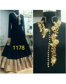 Bollywood Replica - Designer Black Anarkali Suit   - 1178
