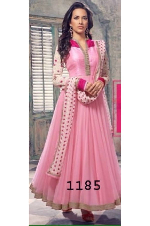 Bollywood Replica - Traditional Pink Anarkali Suit   - 1185