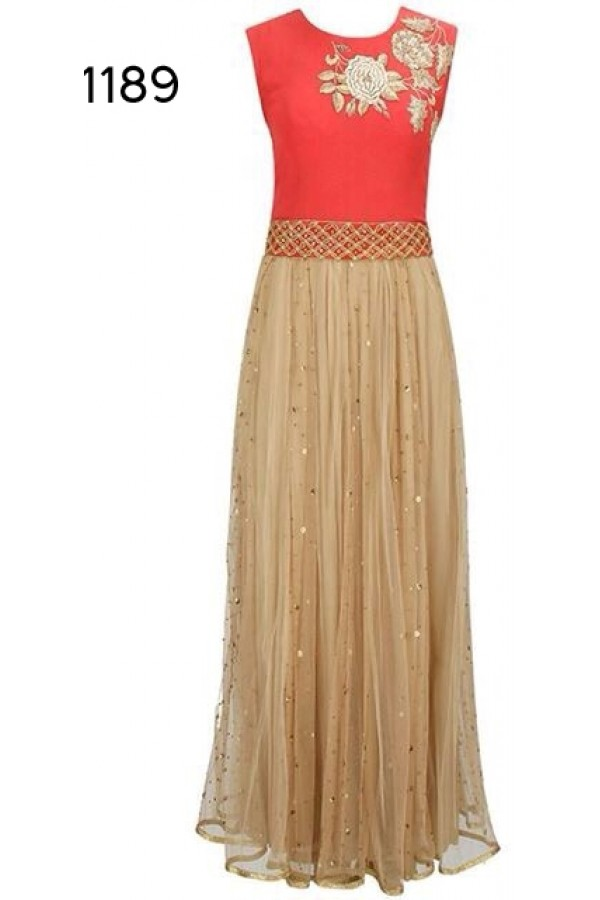 Bollywood Replica - Fancy Orange Anarkali Suit   - 1189