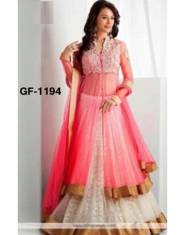 Bollywood Replica - Designer Peach Lehenga Suit   - 1194
