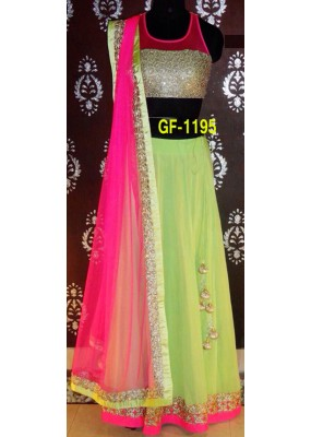 Bollywood Replica - Designer Green Lehenga Choli -  1195