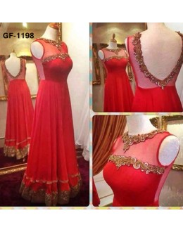 Bollywood Replica - Fancy Red Anarkali Suit   - 1198
