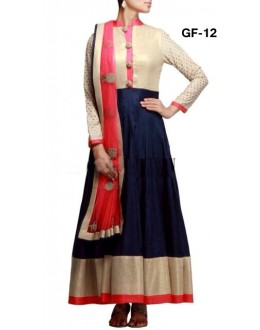 Bollywood Replica - Designer Blue & Beige Anarkali Suit   - 1208
