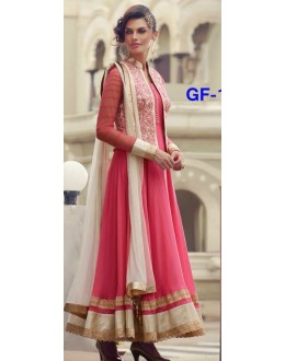 Bollywood Replica - Designer Pink & Cream Anarkali Suit   - 1215