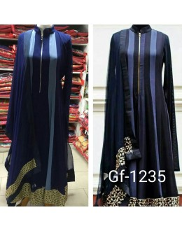 Bollywood Replica - Designer Blue Anarkali Suit   - 1235