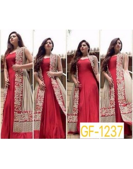 Bollywood Replica - Designer Red Anarkali Suit   - 1237