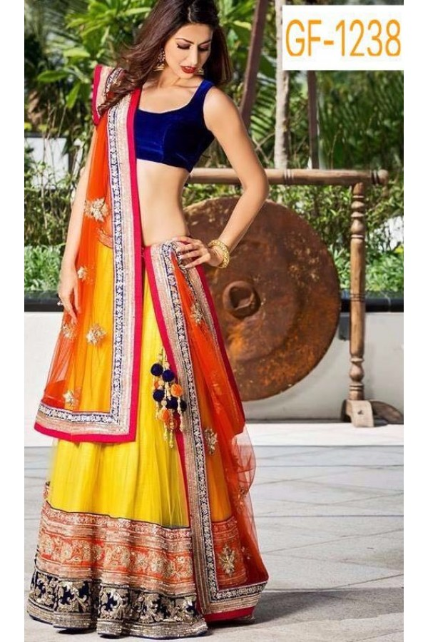 Bollywood Replica - Designer Yellow Lehenga Choli -  1238
