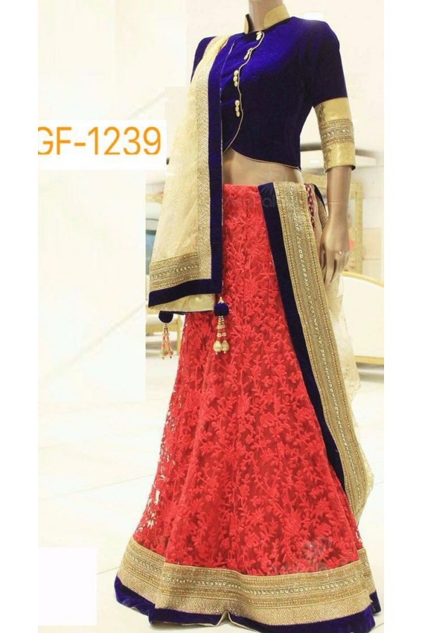 Bollywood Replica - Designer Peach Lehenga Choli -  1239