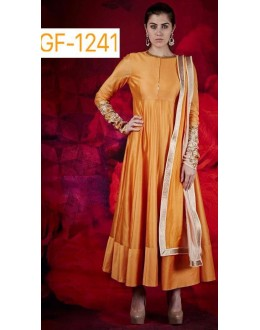 Bollywood Replica - Designer Yellow Anarkali Suit   - 1241
