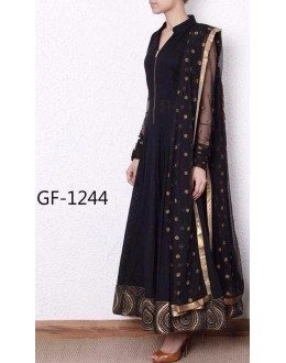 Bollywood Replica - Designer Black Anarkali Suit   - 1244