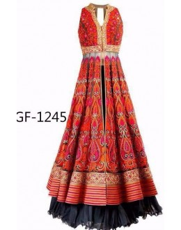Bollywood Replica - Designer Orange Lehenga Suit   - 1245