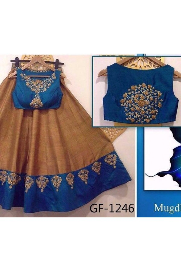 Bollywood Replica - Designer Brown Lehenga Choli -  1246