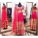 Bollywood Replica - Bridal Pink Banglori Silk Gown -  PO-18