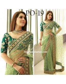 Bollywood Replica -  Wedding Wear Green Sabiya Saree  - PO-19