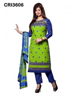 Ayesha Takia In Green Cambric Cotton Salwar Suit - CRI3606