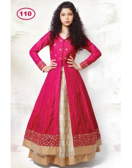 Kids Wear Girl Pink Indo Western Lehenga Suit - KDS110