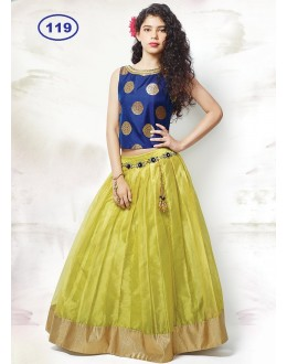 Kids Wear Girl Blue & Green Lehenga Choli - KDS119