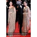 Bollywood Replica - Aishwarya Rai Cannes Film Festival Saree - 106