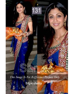 Bollywood Replica - Shilpa Shetty Deasigner Blue Saree - 131