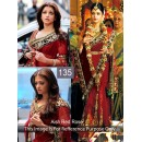 Bollywood Replica - Aishwarya Rai Designer Red Saree - 135