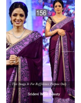 Bollywood Replica - Sri Devi Designer Wine Saree - 156