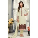 Office Wear Cream Georgette Salwar Suit - S-57