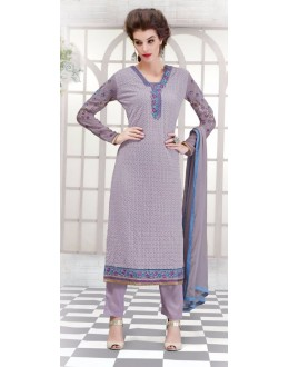 Office Wear Purple Georgette Salwar Suit - 2704