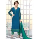 Ethnic Wear Blue & Green Georgette Salwar Suit - 2702