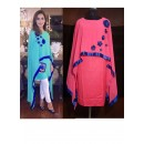 Party Wear Pink Cotton Cape Dress- 1011-C