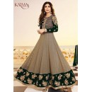 Shilpa Shetty Designer Grey & Green Anarkali Suit - 5405-C