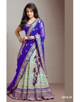 Bollywood Replica -  Designer Blue & Green Lehenga  - 1018-D