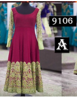 Bollywood Replica - Party Wear Dark Purple Anarkali Suit   - 9106-A