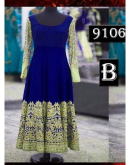Bollywood Replica - Designer Blue Anarkali Suit   - 9106-B