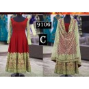 Bollywood Replica - Traditional Red Anarkali Suit   - 9106-C