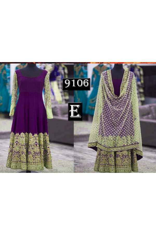 Bollywood Replica - Designer Purple Anarkali Suit   - 9106-E