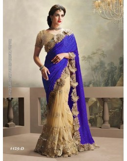 Festival Wear Lavender & Cream Saree  - 1125-D