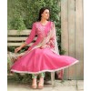 Party Wear Pink Satin Salwar Kameez - 7800B