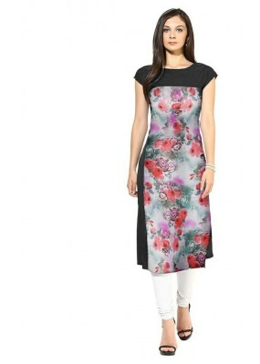 Office Wear Readymade Multicolour Crape Kurti - 113