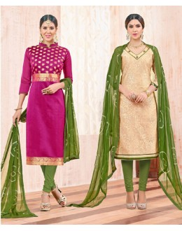 Salwar Suit With Two Top & One Bottom - 461