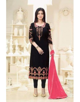 Ayesha Takia In Black Georgette Salwar Suit  - 2236