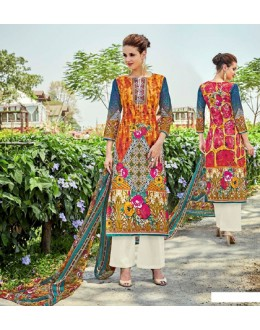 Festival Wear Multi-Colour Cotton Palazzo Suit - 705