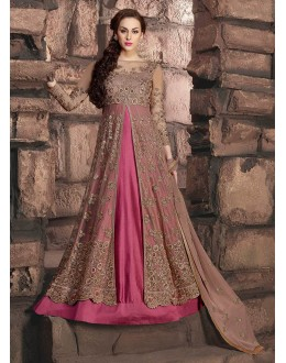 Wedding Wear Metallic Onion Net Anarkali Suit - 10002