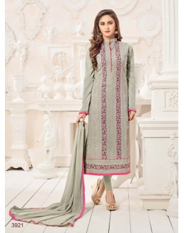 Festival Wear Grey Semi Georgette Salwar Suit  - 3921