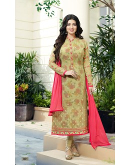 Ayesha Takia In Light Green Georgette Salwar Suit  - 301