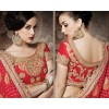 Festival Wear Red & Chickoo Georgette Saree  - 4015