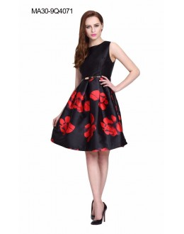 Casual Wear Readymade Black Skater Dress - 4071