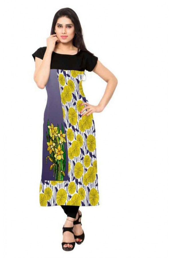 Office Wear Readymade Multicolour Crepe Kurti - 151